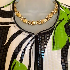 Joseph Ribkoff Jackets & Coats - Green White Jacket Joseph Ribkoff Gorgeous